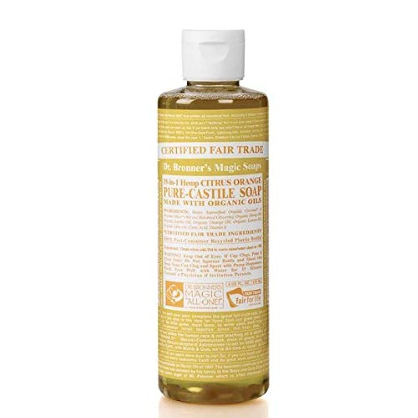 野心的死ぬメンタル[Dr Bronner] Dr。ブロナーズオーガニックシトラスカスティーリャ液体石鹸473ミリリットル - Dr. Bronner's Organic Citrus Castile Liquid Soap 473ml [...