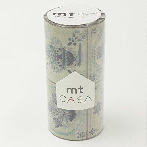 RoomClip商品情報 - カモ井加工紙 マスキングテープ mt CASA 100mm幅×10m巻き タイル・フラワー MTCAS013