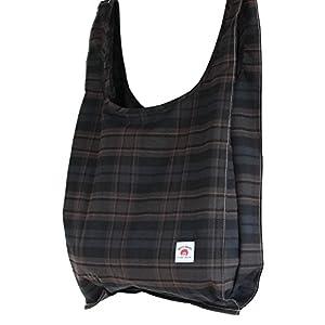 (ベティスミス)Betty Smith レジ袋型折りたたみエコバッグ (ブラック系チェック)