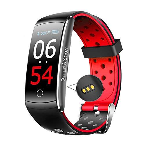 Greatever スマートウォッチ 最新版 腕時計 スマートブレスレット自動睡眠監視 血圧計 心拍計 着信通知 長座注意 リモートカメラ ランニングウォッチ 活動量計 歩数計 消費カロリー カラースクリーン 睡眠検測 日本語説明書 iphone&Android対応 (赤い)