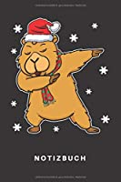 Notizbuch: Notizbuch | Notizheft | Schreibbuch | 110 Seiten | Liniert | Linien | DIN A5 | Weihnachten | Heiligabend | Dabbing | Winter | Schnee |Schneeflocken | Capybara | Wasserschwein | Hamster | Meerschweinchen