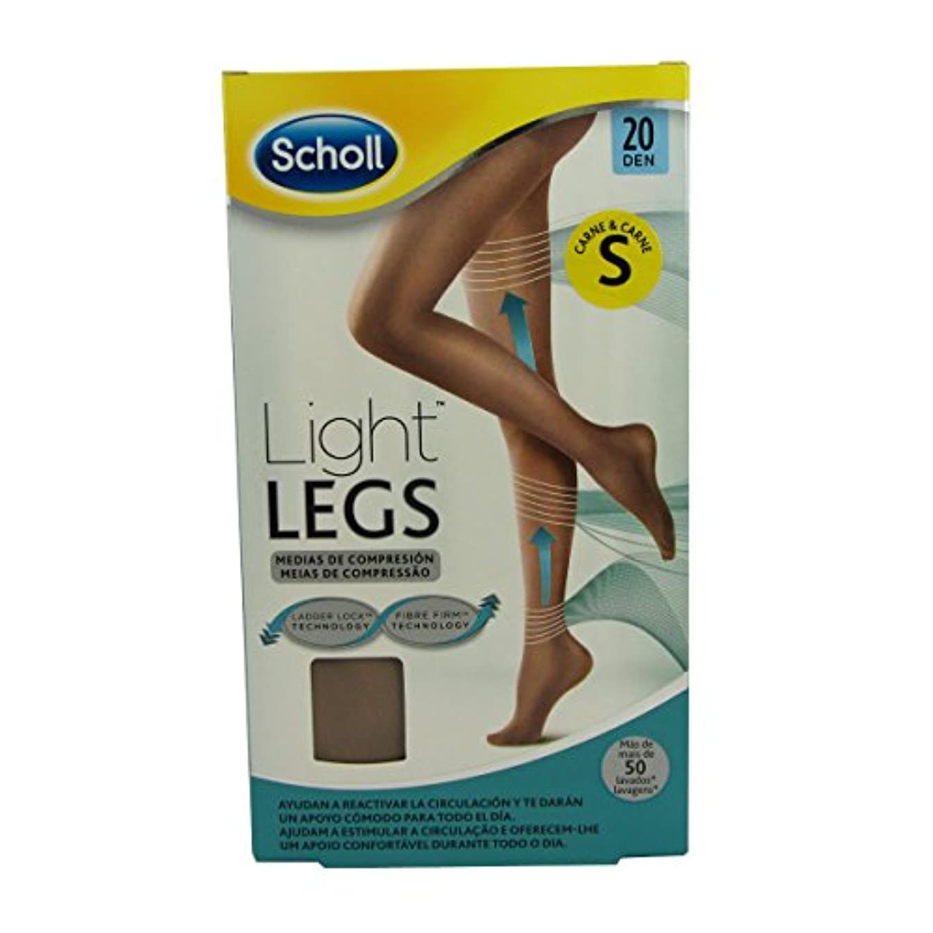 パンサー報奨金第二Scholl Light Legs Compression Tights 20den Skin Small [並行輸入品]