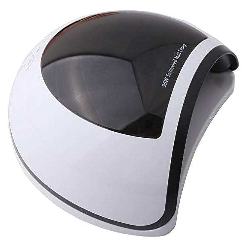 用語集エネルギーフェッチネイルドライヤー - 光線療法ネイルマシン96Wハイパワーマルチスピードタイミング無痛モード速硬化ランプ