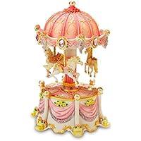 Carousel夢Mini 3-horse回転Figurine The San Francisco Music Box Company