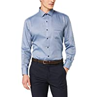 Van Heusen Classic Relaxed Fit Business Shirt, Navy, 43 90
