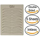 PMU Cosmopolitan Pack | Microblading Practice Skin Double-Sided | Professional Realistic Hairstroke Tattoo Latex | Special Va