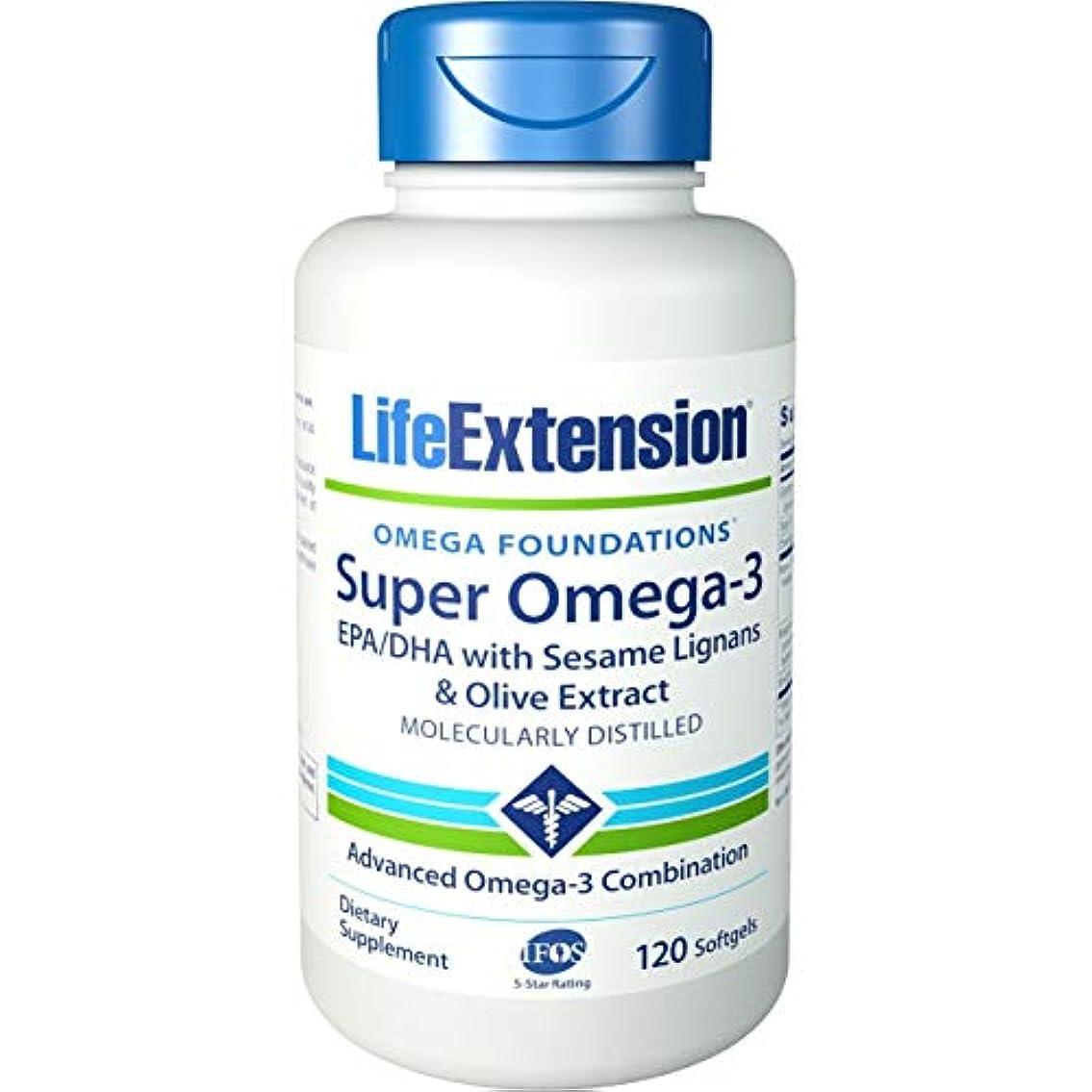 無限住人レーザ海外直送品Life Extension Super Omega with Krill & Astaxanthin, 120 Sgels