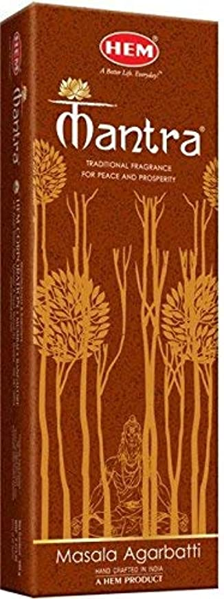 陪審ペイントレンズHem Mantra Masala Incense Stick 250 Gram (9.3 cm x 6 cm x 25.5cm, Brown)