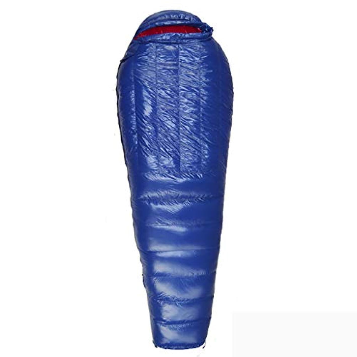 修羅場暖かさ石のYLIAN 寝袋 800グラムは、バックパッキングアウトドア用大人寒冷防水暖かいキャンプバッグダウンスリーピングキルトのための軽量スリーピングバッグを埋めます