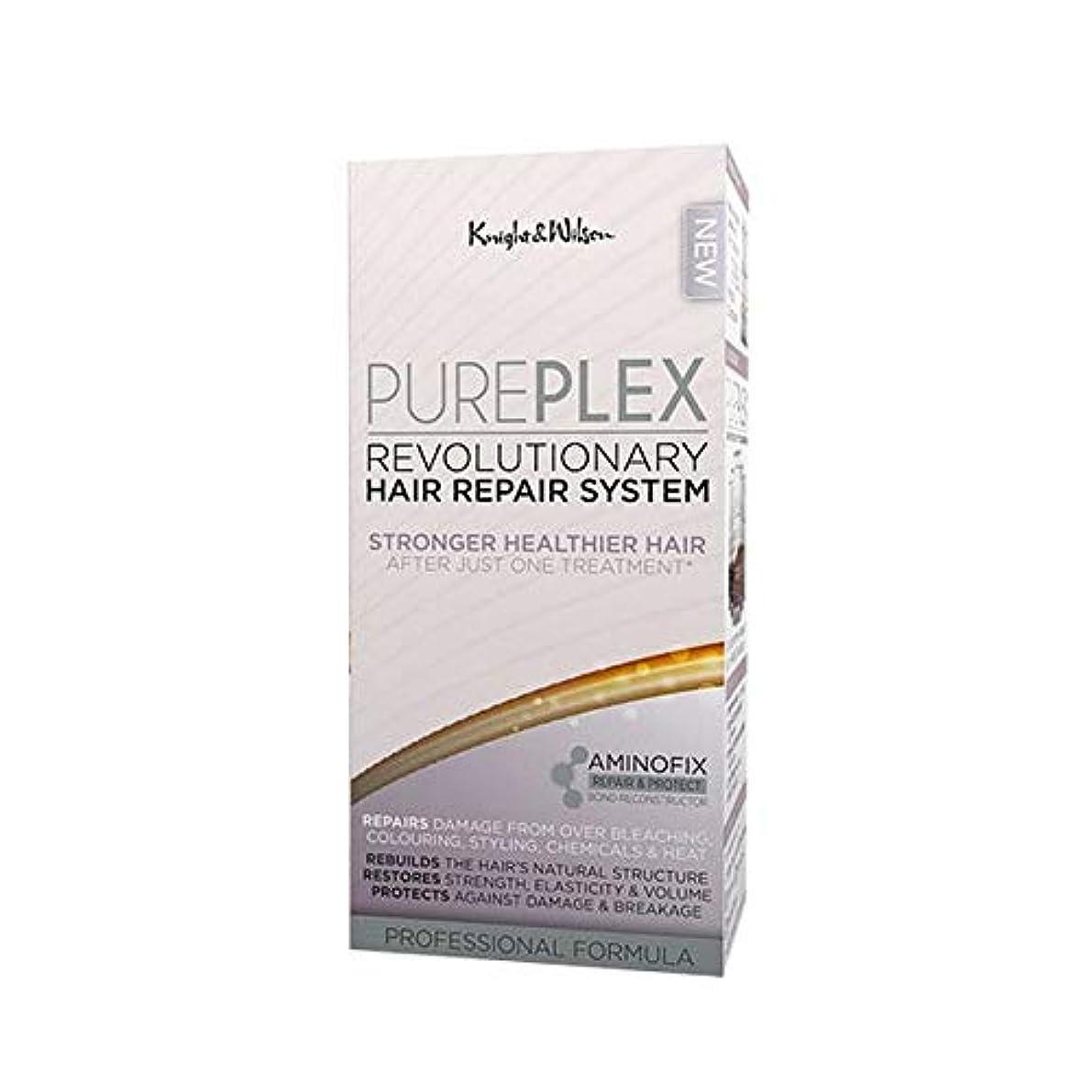怒っているすき手段[Knight and Wilson ] 騎士とウィルソンPureplex画期的なヘア修復システム - Knight and Wilson PurePlex Revolutionary Hair Repair System...