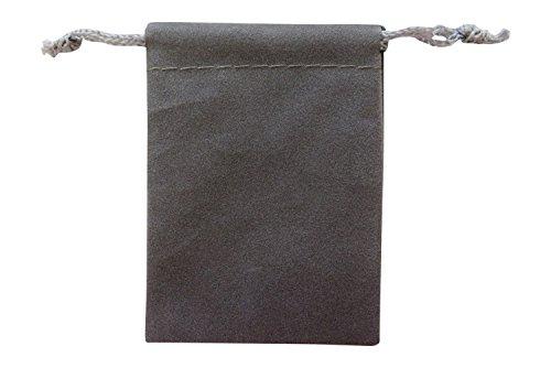 [해외]액세서리 저장 선물용 파우치 벨벳 풍의 백이 S 사이즈 그레이 × 5 개 세트 | 포장 포장/Storage of accessories · Present Pouch Velor Adjustable Bag S Size Gray × 5 Set | Packaging Wrapping