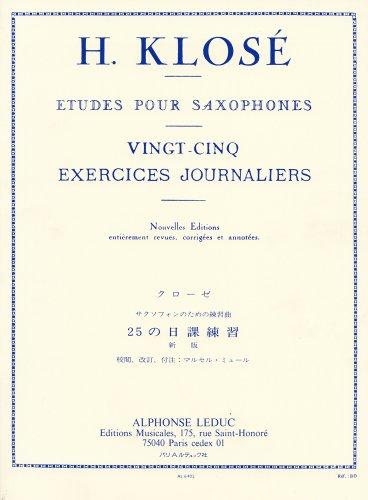 クローゼ: サクソフォンのための日課練習曲/ミュール編/ルデュック社