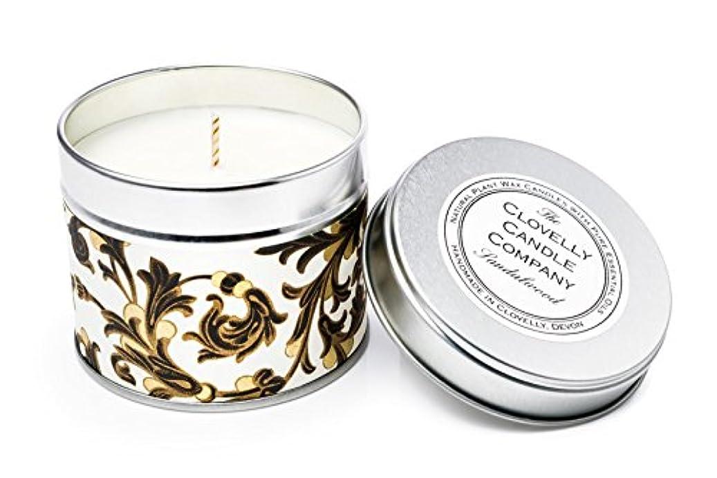 不安定スカウトチャーミングClovelly Soap Co Handmade Natural Sandalwood Scented Soy Wax tin Aromatherapy Candle made in UK with Pure Essential...