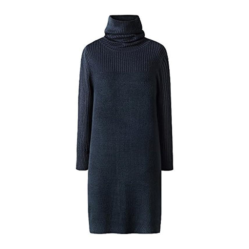 ステーキ世界記録のギネスブック不倫秋の冬のハイネックニットドレススリムミディアムレングス長袖セーター