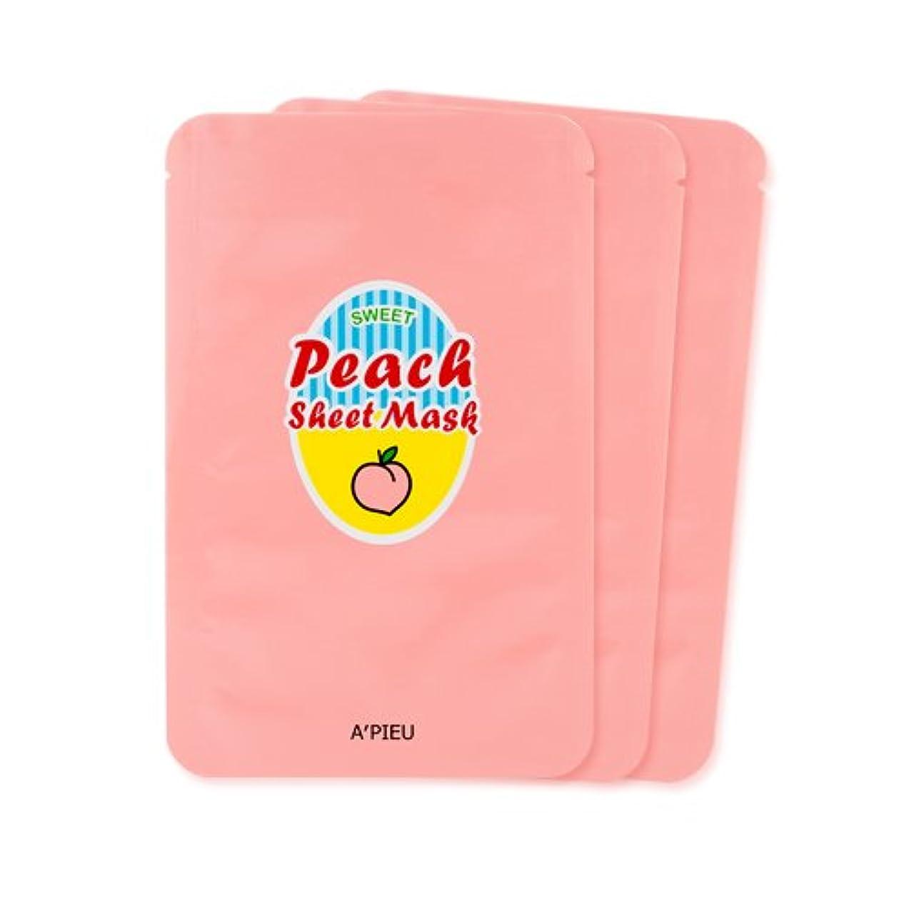 豊富な癌弾力性のあるA'PIEU Sweet Peach Sheet Mask 3EA / [オピュ/アピュ] スイートピーチシートマスク3枚 [並行輸入品]