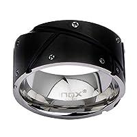 INOX Jewelry メンズ ステンレススチール ブラック IP ネジ頭付き 13
