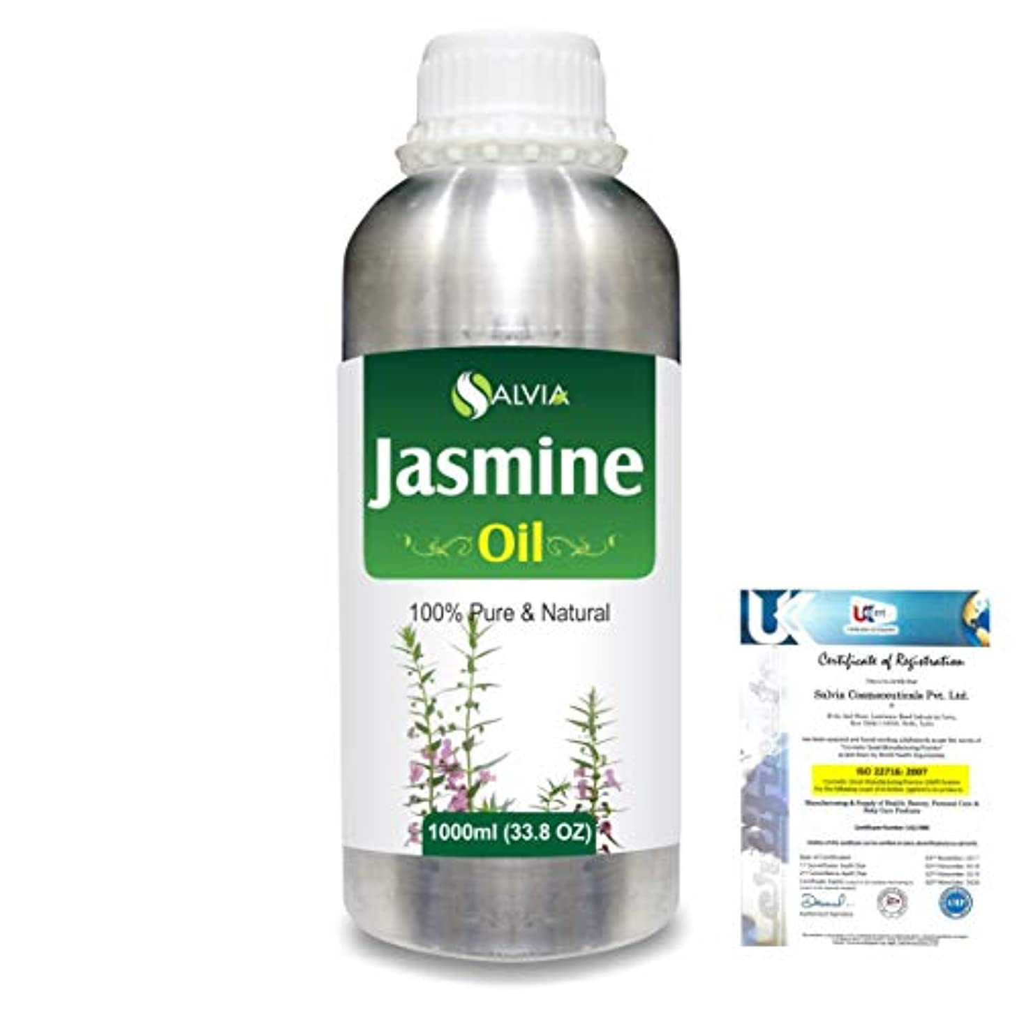 在庫委託なにJasmine (Jasminum Grandiflorum) 100% Natural Pure Essential Oil 1000ml/33.8fl.oz.