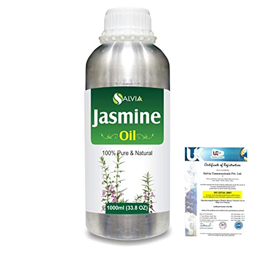 従事した残忍なオープニングJasmine (Jasminum Grandiflorum) 100% Natural Pure Essential Oil 1000ml/33.8fl.oz.