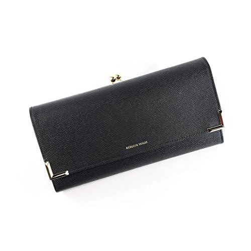 レベッカテイラー 財布 がま口かぶせ長財布 レディース ブラック rebec138
