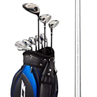 WORKS GOLF(ワークスゴルフ) クラブセット ディスタンスロッド D-rod (アイアンシャフト:スチール フレックス:S キャディバッグカラー:ブラック・ブルー)
