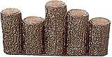 【5本セット】 サンポリ プラスチック製擬木 はなえ80 五連段違型200