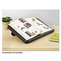 ergo-comfort読み取り/書き込み自立デスクトップコピースタンド、木製、ブラック, Sold as 1Each