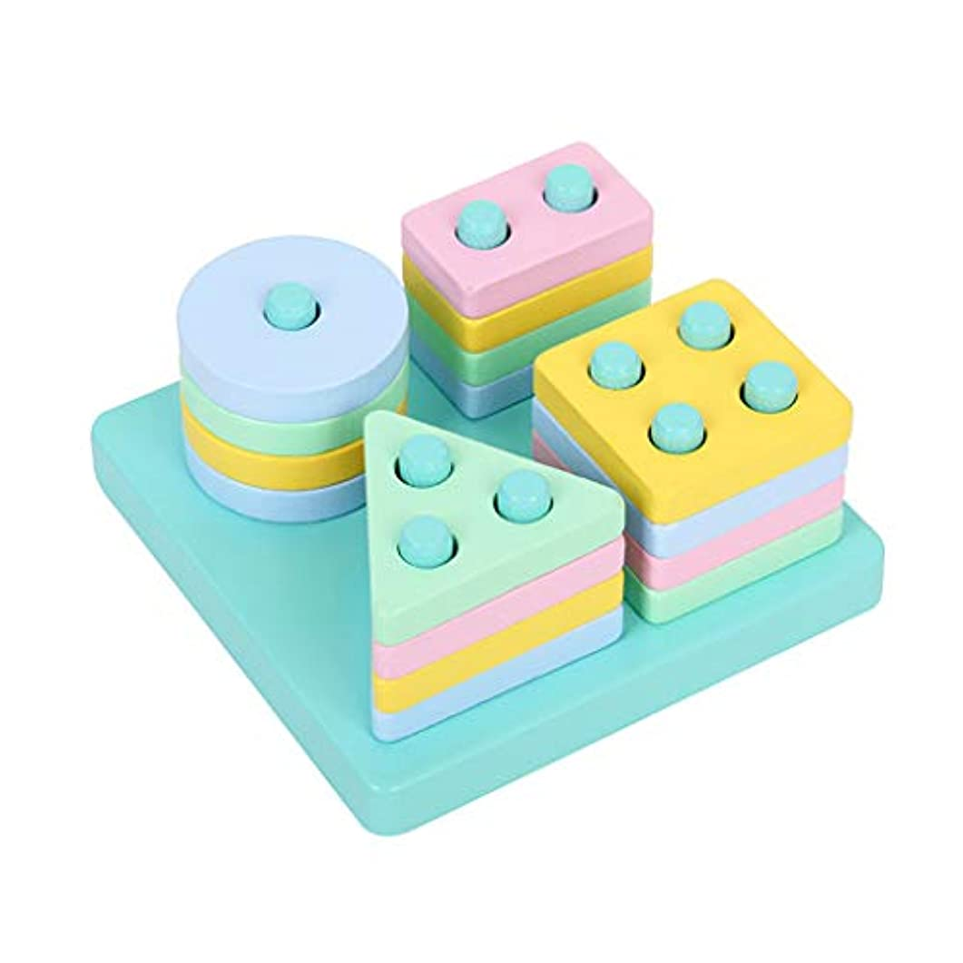 踏み台災害ポールMinhuih 列のセットを一致させる方法 子供のおもちゃ 知育玩具 子供のお誕生日プレゼント