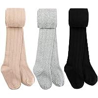 Auranso Toddler Girls Knit Cotton Tights Pantyhose Dance Leggings Stocking Pants