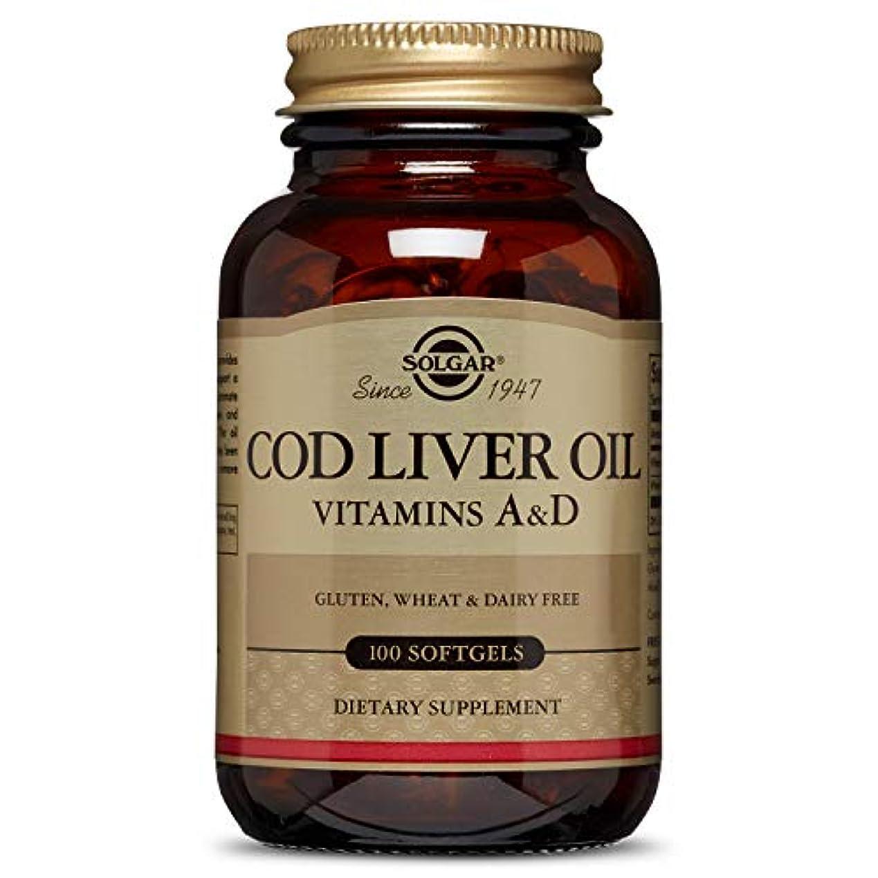 表面ゴシップ放課後海外直送品Norwegian Cod Liver Oil Softgels (Vitamin A & D Supplement), 100 S Gels by Solgar