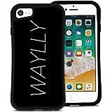 WAYLLY(ウェイリー) iPhone8 ケース iPhone7ケース iPhone6sケース iPhone6ケース くっつくケース 着せ替え 耐衝撃 米軍MIL規格 [メインロゴ ビッグロゴ] MK