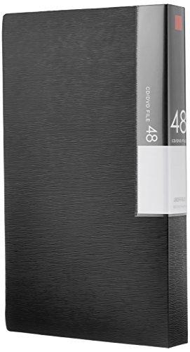 BUFFALO CD&DVDファイルケース ブックタイプ 48枚収納 ブラック BSCD01F48BK 1個