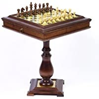 Majestic Staunton Chessmen & Venezia Chess Table From Italy by
