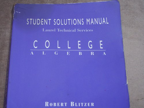 Download College Algebra: Student Solutions Manual 0137468695