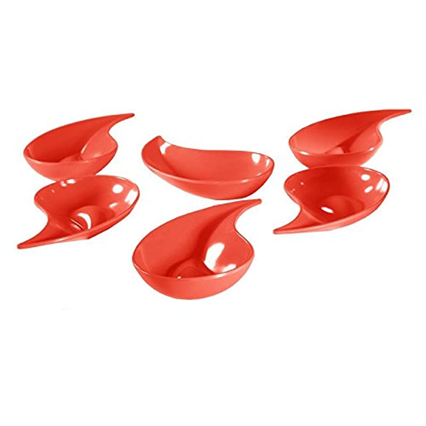Mebel EN09-M00MV-RED Small Teardrop Shape Red Bowl for Snacks or Appetisers 6 Pieces Per Pack