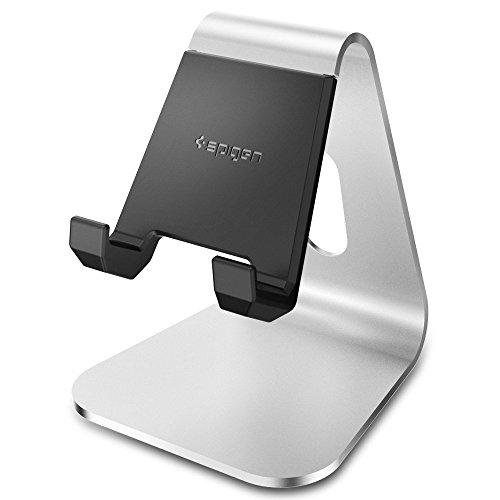 【Spigen】 スマホスタンド 持ち歩き可能 iPhone X/8/8 Plus/7/7 Plus/6S/6S plus/SE/Galaxy S9/S9 Plus/S8/S8 Plus/S7 Edge/Note 8/Huawei/Nintendo Switch スマートフォン 対応 SGP11576 (S310, シルバー)