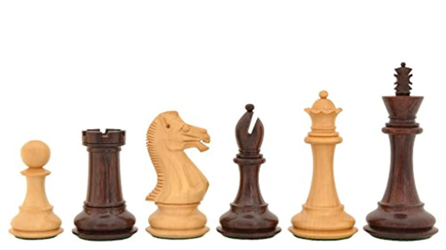 Chessbazaar The Staunton Series Wooden Hand Crafted Chess Pieces In Rose & Box Wood