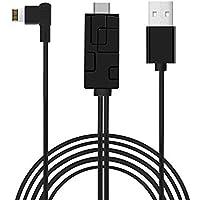 iPhone/Lightning to HDMI変換ケーブル Aoma iPhone HDMI 変換 ケーブル HDTV AVアダプタ1080P高解像度 設定不要 1.8M 大画面テレビに ミラーリング 接続簡単 iPhone X/8 Plus/7/6S/5/ipadなどに対応 (ブラック)
