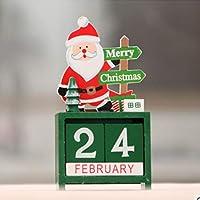 Saikogoods クリスマス 飾り クリスマス創造的な贈り物木製のカレンダーの装飾の装飾品 多色の