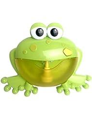 Intercorey漫画かわいいカエル自動バブルマシン送風機メーカーパーティー夏屋外玩具バブル生成おもちゃ用子供