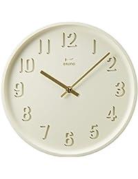 BRUNO ラウンドソリッドウォールクロック 掛け時計 掛時計 壁掛け時計 壁掛時計 おしゃれ ブルーノ イデアインターナショナル (ホワイト)