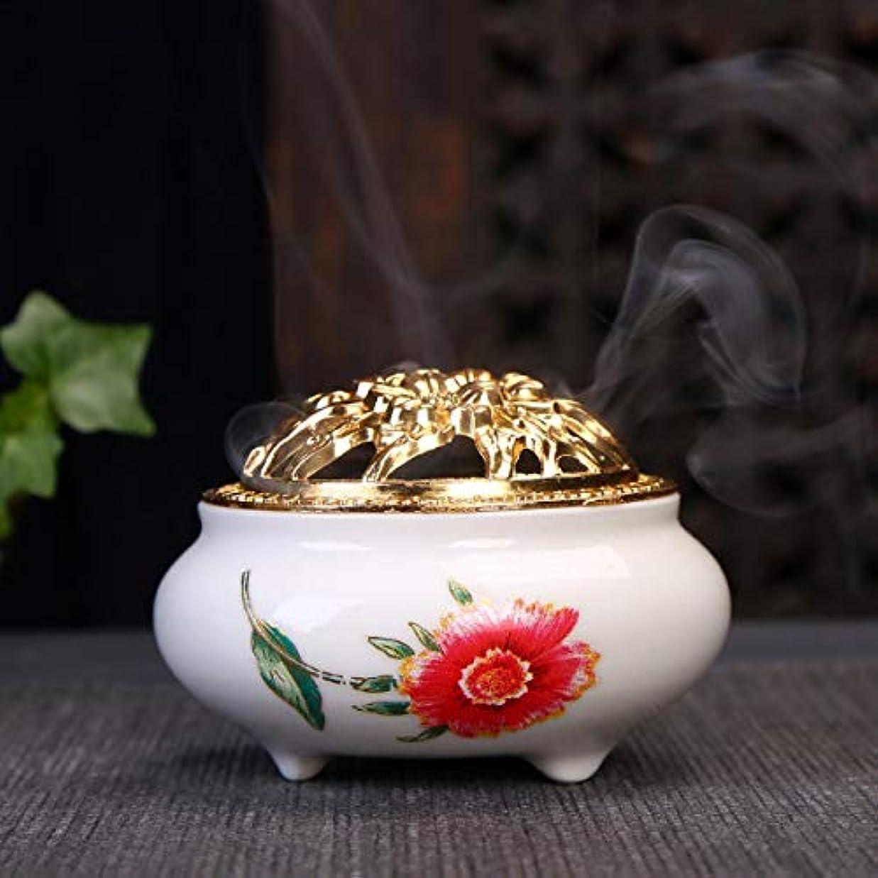 お世話になった割るそうでなければ香炉ポータブル香炉香炉用真鍮ホイストブラケット付き円錐香炉 家庭用香り9.5 * 6.5 cm