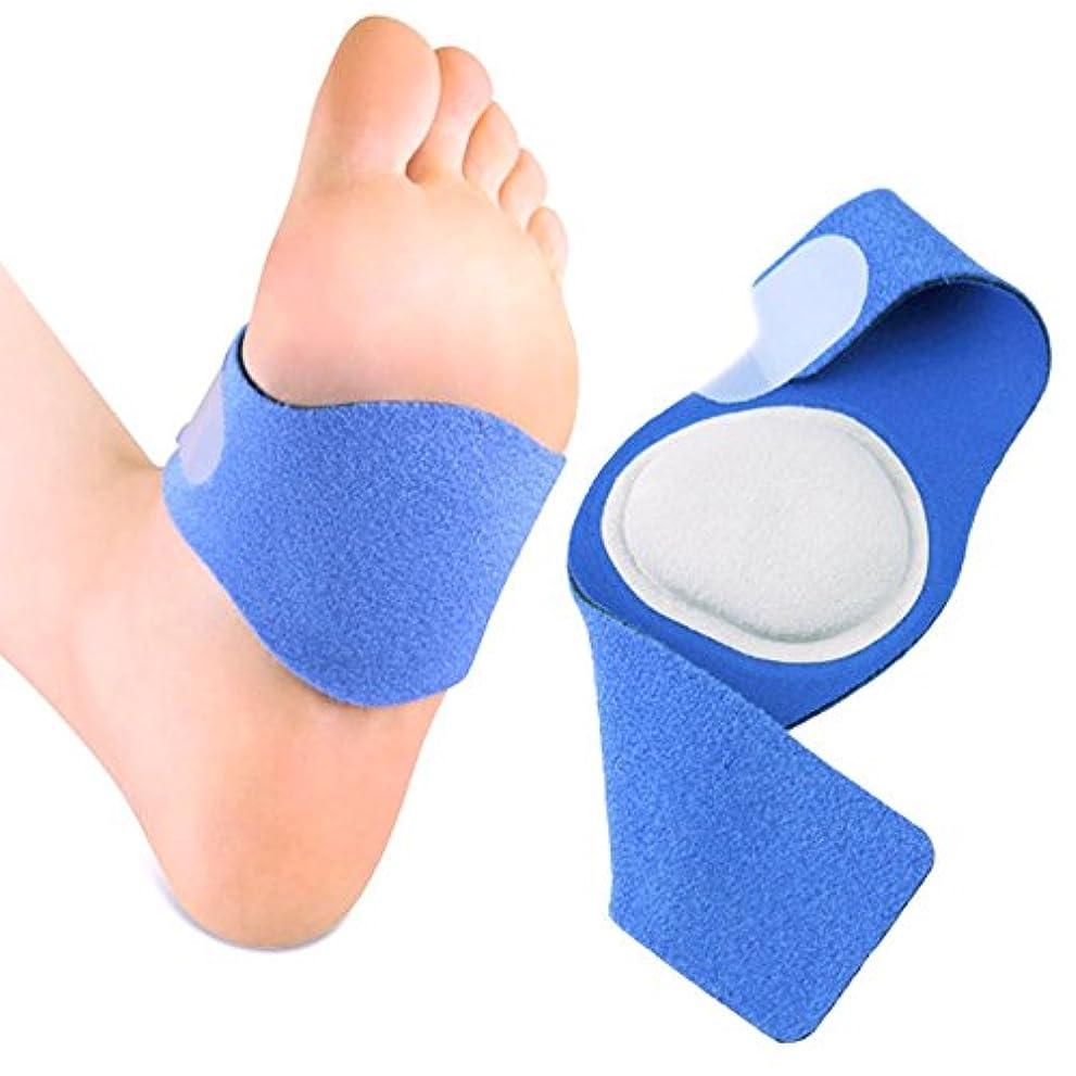 ここにトライアスロン特性TAKUMED アーチサポーター 扁平足 凹足 足底筋膜炎 サポーター 土踏まず 立ち仕事 男女兼用 サイズ調整可能 左右セット (S-Mサイズ)