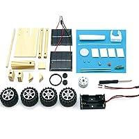 MolySun 知育玩具 DIYの月のローバー手作りムーンカーツールセットバッテリー/ソーラー発電アセンブリおもちゃ教育おかしい子供子供の工芸おもちゃ 黒