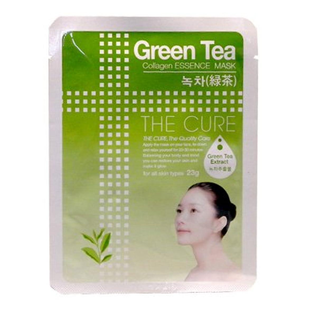 スチュアート島面倒回復するCURE マスク シートパック 緑茶