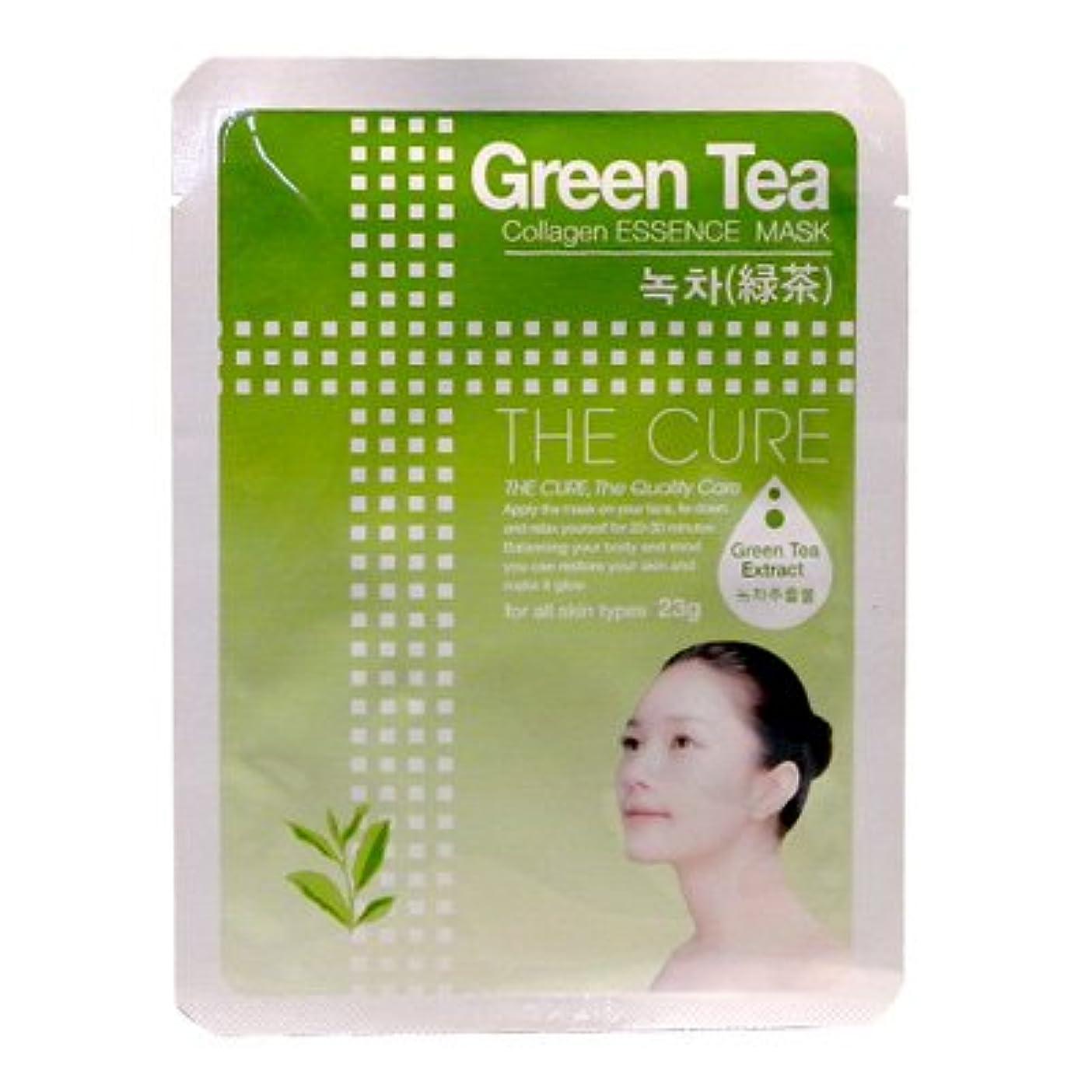 キュービック生き残り成熟CURE マスク シートパック 緑茶