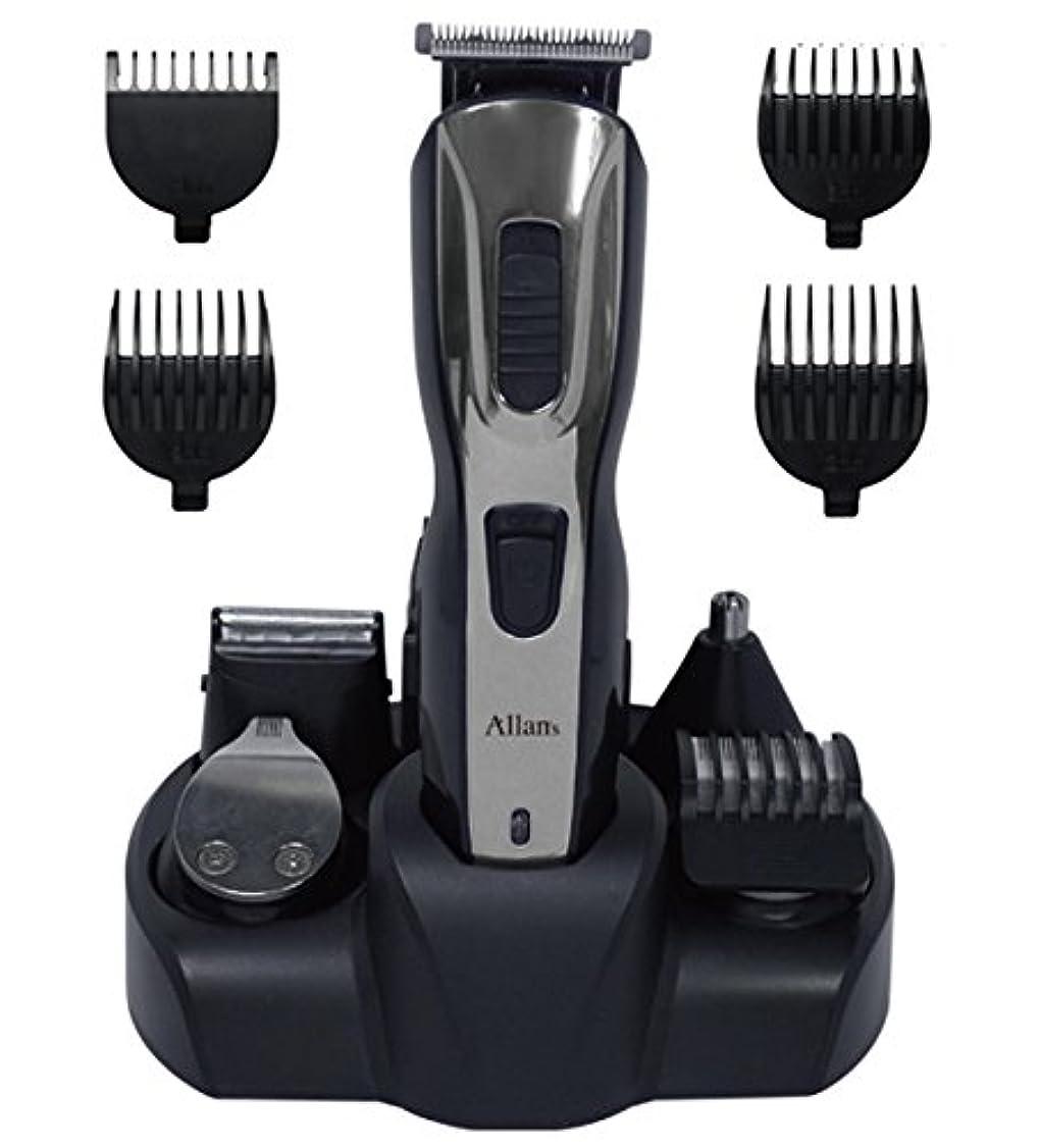 回る申込みディプロマAllans 充電式 メンズ グルーミング オールマイティ 5 (髪バリカン、髭剃り、ラインバリカン、鼻毛、ボディ) MEBM-22