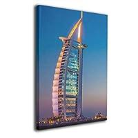 Dickey Bowen ドバイ 高層ビル 海 空 風景 Dubai Sailing Hotel Seven Star Hotel 壁掛け絵画 壁の絵 アートフレーム 水彩画 油絵 油彩 絵画 風景画 現代 モダン 壁絵 装飾画 木製 キャンバス インテリア 装飾品 壁掛け 額縁なし ポスター アート 抽象 画像 印刷 ホーム オフィス 部屋 居間 装飾 ユニーク ギフト ウォールアート フレームなし 子供 大人
