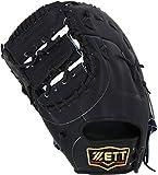 ZETT(ゼット) 軟式野球 プロステイタス ファーストミット 新軟式ボール対応 ナイトブラック(1900N) 左投げ用 日本製 BRFB30913