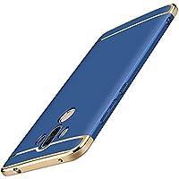 【Trocent】Huawei Mate 10 Pro ケース 三つパーツ式 電気メッキデザイン Huawei Mate10 Pro ケース 汚れ防止 軽量 薄型 衝撃防止 全面保護 (Mate10Pro, ブルー)