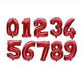 32インチビッグ箔誕生日風船エアヘリウム番号バルーンフィギュアハッピーバースデーパーティーの装飾子供風船誕生日風船,03,16inch